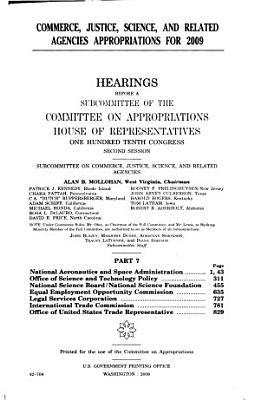 Commerce  Justice  Science  and Related Agencies Appropriations for 2009  NASA  Office of Science and Technology Policy  NSB PDF