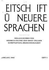 Zeitschrift f  r neuere Sprachen PDF