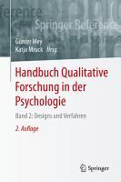 Handbuch Qualitative Forschung in der Psychologie PDF