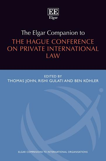 The Elgar Companion to the Hague Conference on Private International Law PDF