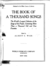 Book of a Thousand Songs ..