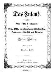 Das Inland. Eine Wochenschrift für Liv-, Esth- und Curländische Geschichte, Geographie, Statistik und Litteratur: Band 10