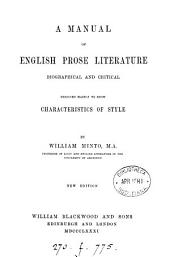 A Manual of English Prose Literature..