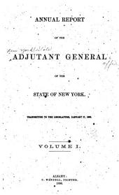 Annual report of the Adjutant-General: Volume 1