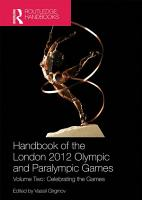 Handbook of the London 2012 Olympic and Paralympic Games PDF