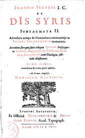 De Diis Syris Syntagmata II ...
