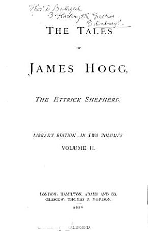 The Tales of James Hogg  the Ettrick Shepherd PDF