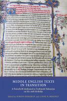 Middle English Texts in Transition PDF