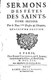 Sermons des fêtes des saints: Volume 2