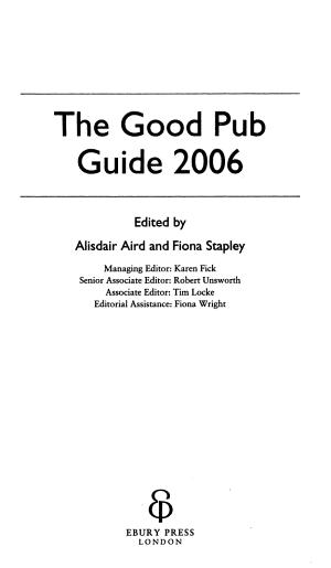 The Good Pub Guide 2006 PDF