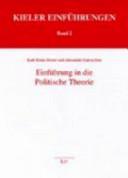 Einf  hrung in die politische Theorie PDF