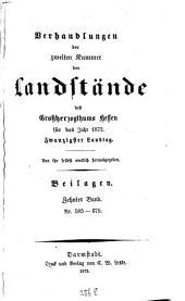 Verhandlungen der Zweiten Kammer der Landstände des Großherzogthums Hessen: 1872,[19]