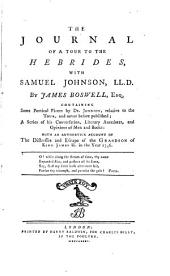 The Journal of a Tour to the Hebrides, with Samuel Johnson, LL. D.