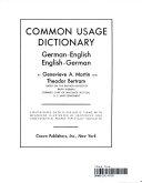 Common Usage Dictionary PDF