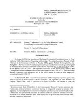 Herbert M. Campbell II, Esq.: Securities and Exchange Commission Decision