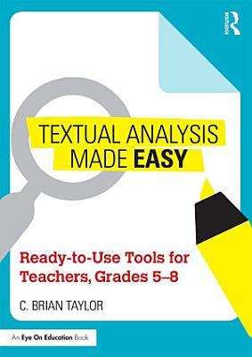 Textual Analysis Made Easy