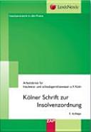 K  lner Schrift zur Insolvenzordnung PDF