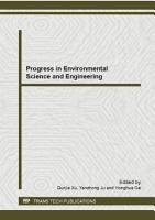 Progress in Environmental Science and Engineering PDF