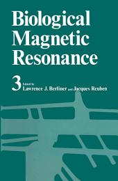 Biological Magnetic Resonance: Volume 3