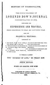 History of Cosmopolite: Or, The Four Volumes of Lorenzo Dow's Journal