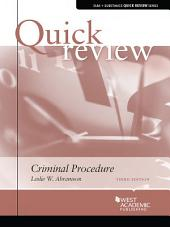 Quick Review of Criminal Procedure, 3d: Edition 3