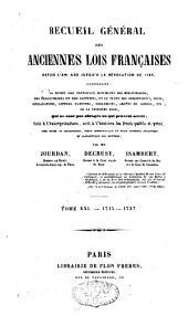 Recueil général des anciennes lois françaises: depuis l'an 420 jusqu'à la Révolution de 1789, Volume21