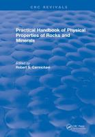 Practical Handbook of Physical Properties of Rocks and Minerals  1988  PDF