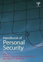 Handbook of Personal Security PDF