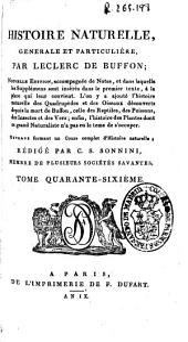 Histoire naturelle generale et particuliere: Volume46