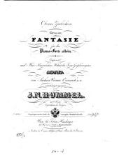 Oberons Zauberhorn: gr. Fantasie für d. Pianoforte allein ; op. 116