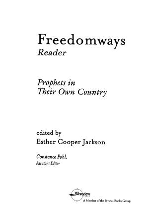 Freedomways Reader PDF