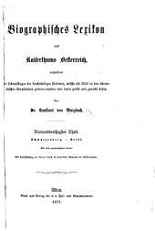 Biographisches lexikon des kaiserthums Oesterreich, enthaltend die lebensskizzen der denkwürdigen perosnen, welche seit 1750 in den österreichischen kronländern geboren wurden oder darin gelebt und gewirkt haben: Band 33