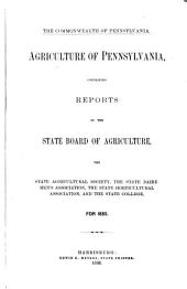 Agriculture of Pennsylvania: Volume 9
