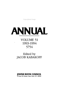 Jewish Book Annual PDF