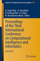 Proceedings of the Third International Conference on Computational Intelligence and Informatics PDF