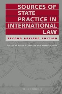 Sources of State Practice in International Law PDF
