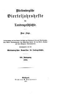 W  rttembergische Vierteljahrshefte f  r landesgeschichte PDF