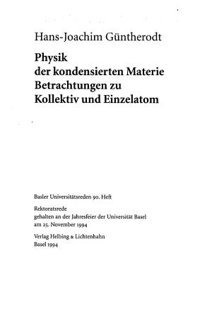 Physik der kondensierten Materie PDF