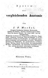 System der vergleichenden Anatomie: Band 5