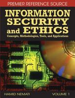 Information Security and Ethics  Concepts  Methodologies  Tools  and Applications PDF