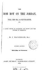 The Rob Roy on the Jordan  Nile  Red Sea  and Gennesareth   c PDF