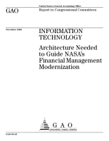 Information technology architecture needed to guide NASA s financial management modernization  PDF