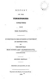 Report on the Territories Conquered from the Paishwa