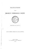 Transactions of the Brooklyn Pathological Society  Session of 1885  6    PDF