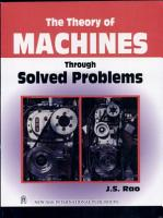 The Theory Of Machines Through Solved Problems PDF
