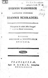 Laudatio funebris Ioannis Schraderi