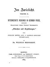 "Intermediate Readings in German Prose, Containing Selections from Rudolf Baumbach's ""Märchen und Erzählungen."": With English Notes and a German-English Vocabulary"