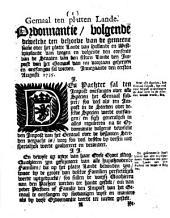 Redemptiegeldt. Ordonnantie, waar op in [...] Hollandt en Westvrieslandt [...] geinnet sal werden het middel op het redemptiegeldt [...] innegaande op den eersten april 1735