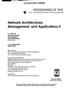 Network Architectures  Management  and Applications II