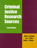 Criminal Justice Research Sources Book PDF
